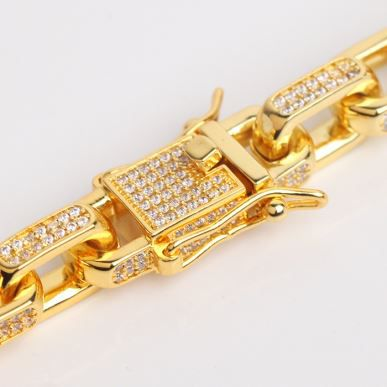CZ Gold Iced out Chain